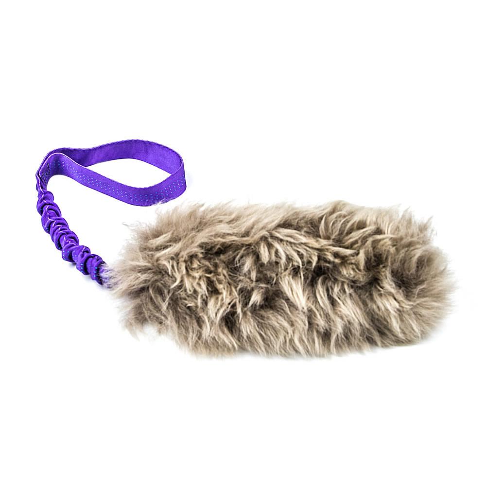 Dog Tug Toy Agility: Bungee Fur Tug Toy With Sheepskin