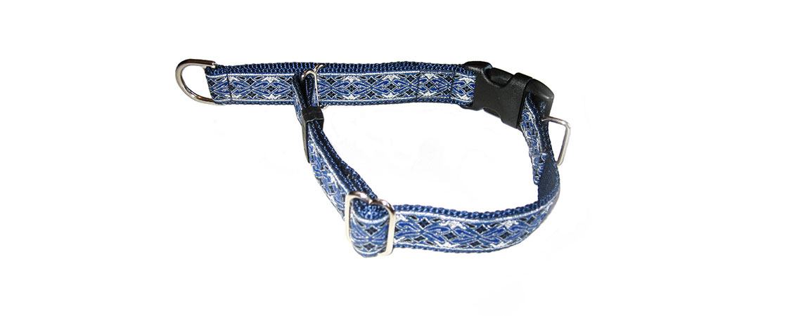 Custom Designer and Standard Dog Collars. This is our Limited Slip Collar with Buckle.