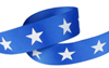 White star on royal grosgrain ribbon