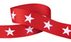 White star on red grosgrain ribbon