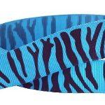 Turquoise-black zebra grosgrain ribbon