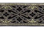 Black-Gold Geo Metallic jacquard ribbon