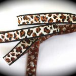 Brown-tan cheeta jacquard ribbon