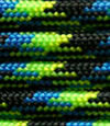 Yellow-blue-black paracord