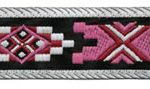 7/8 in Black-Pink-White Southwest jacquard ribbon