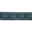 "Blue-Diamond Geo 5/8"" jacquard ribbon"