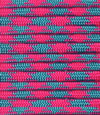bright pink-light blue paracord