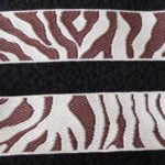 1 in Cream-Brown Zebra-Reversible jacquard ribbon
