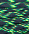 Black-bright yellow-bright green paracord