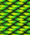 Yellow-bright green-black X paracord
