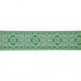 Emerald Diamond Geo jacquard ribbon