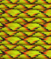 Yellow red-black X paracord