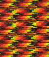 Red-orange-yellow-black paracord