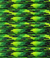 Yellow-green-black multicolor paracord