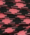 Salmon pink-black paracord