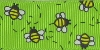 7/8 in Busy bees on green grosgrain ribbon