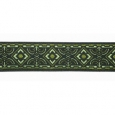 5/8 in Olive green diamond geo jacquard ribbon