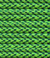 Bright green with dark green specs paracord