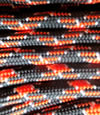 Black-dk orange-white paracord