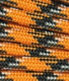 Orange-black-white paracord
