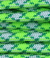 Neon green-white-green paracord