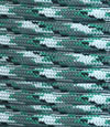Kelly green-grey-white multicolor paracord