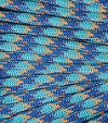 Light blue-blue-orange paracord