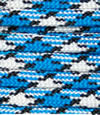 Colonial blue-white-black paracord