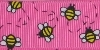 7/8 in Busy bees on bright pink grosgrain ribbon