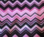 Pink-black zigzag fleece