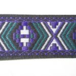 Purple-Dark Teal Aztec 1 in jacquard ribbon