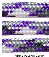 Purple-lt grey-white multicolor paracord