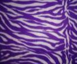 Purple-white zebra fleece