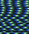 Blue-black-green paracord