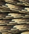 Tan-brown multicolor paracord