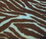 Turquoise-brown zebra fleece