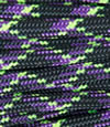 Purple-black-neon green multicolor paracord