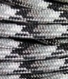 Black-grey-white multicolor paracord