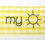 You are my sunshine on Yellow-white gingham ribbon