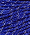Reflective tracers on electric blue paracord