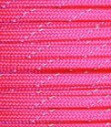 Reflective tracers on neon pink paracord