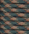 Dark green-rust-tan camo paracord