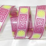 Greek Key Hot Pink Ribbon