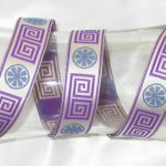 Greek Key Purple Ribbon