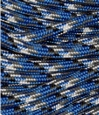 Royal blue, grey, black and white paracord